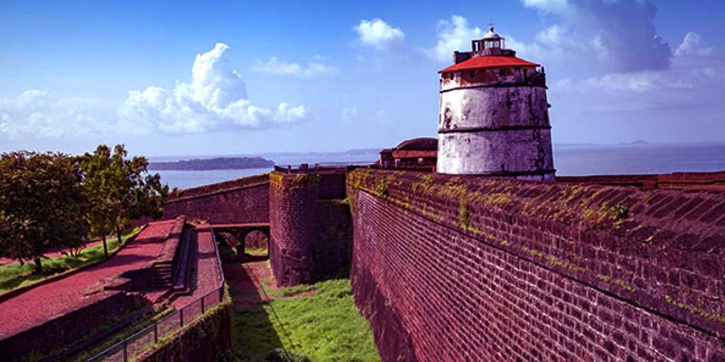 places to visit in Goa, Aguada Fort – Explore the Portuguese Architecture