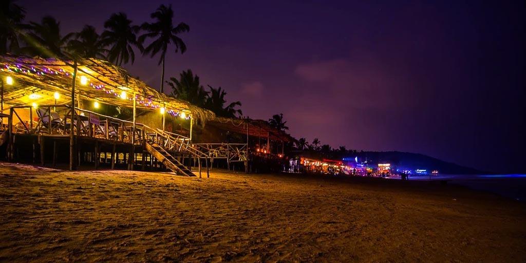 Places to visit in Goa, Anjuna Beach – A Fun and Musical Night