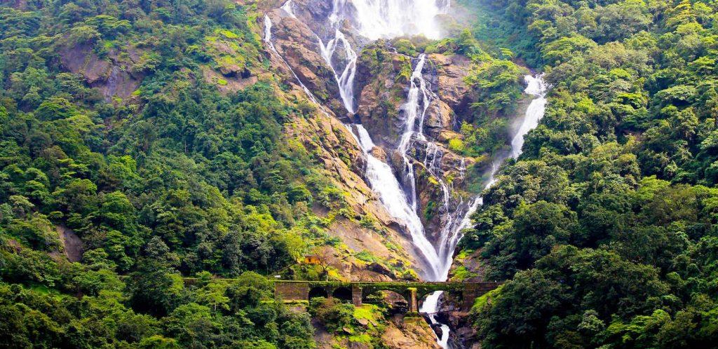 Goa tourist places, Dudhsagar Waterfalls, Goa